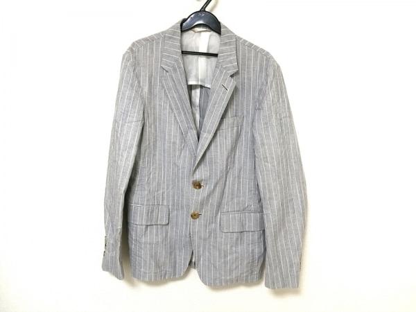 PaulSmith(ポールスミス) ジャケット メンズ ライトグレー×白 ストライプ/collection