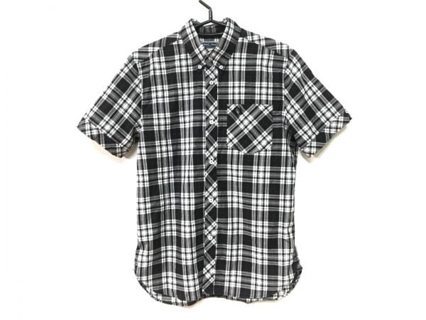 フレッドペリー 半袖シャツ サイズ36 S メンズ 黒×白×レッド チェック柄