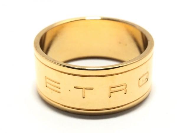 ETRO(エトロ) スカーフリング 金属素材 ゴールド スカーフリング