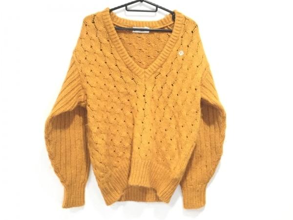 クリスチャンディオールスポーツ 長袖セーター サイズS レディース美品  オレンジ