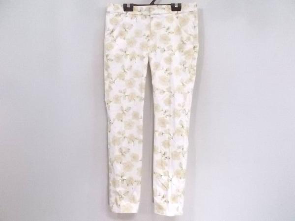 アプワイザーリッシェ パンツ サイズ2 M レディース 白×マルチ 花柄