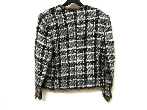 INGEBORG(インゲボルグ) ジャケット レディース 黒×白×マルチ 肩パッド