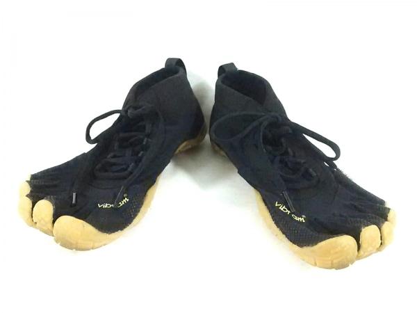 ビブラムファイブフィンガーズ スニーカー 7.5 25.5 メンズ 黒 化学繊維×ラバー