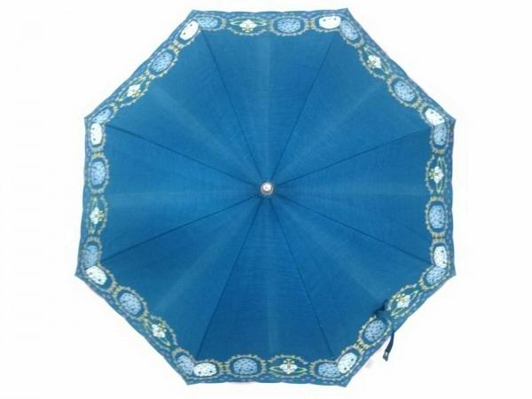 ヴィヴィアンウエストウッドアクセサリーズ 日傘 ネイビー×白×マルチ 刺繍/オーブ