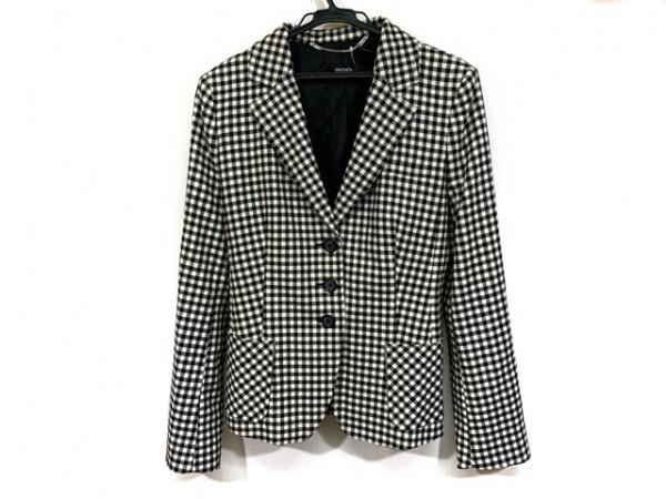 MAX&CO.(マックス&コー) ジャケット サイズ42 M レディース 黒×白 チェック柄