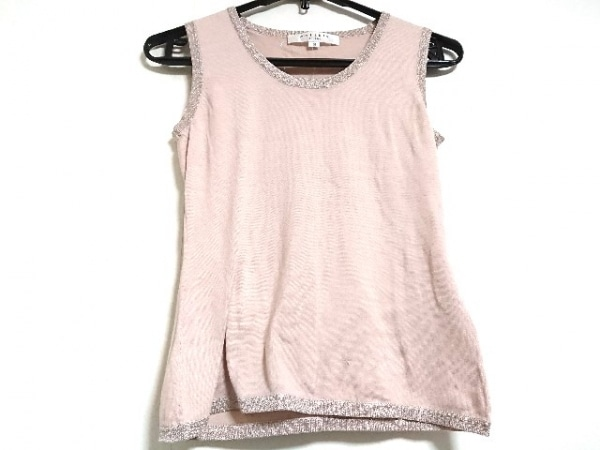 MATERIA(マテリア) ノースリーブセーター サイズ38 M レディース新品同様  ピンク