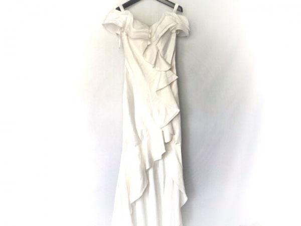 JEAN MACLEAN(ジーンマクレーン) ドレス レディース美品  白 フリル/スリット