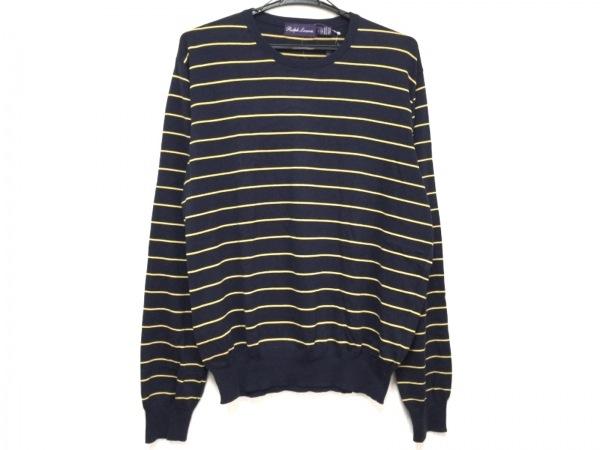 ラルフローレンコレクション パープルレーベル 長袖セーター サイズL メンズ美品