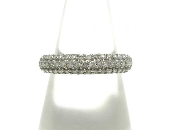 ヴァンドーム青山 リング K18WG×ダイヤモンド シルバー×クリア ダイヤ0.42ct