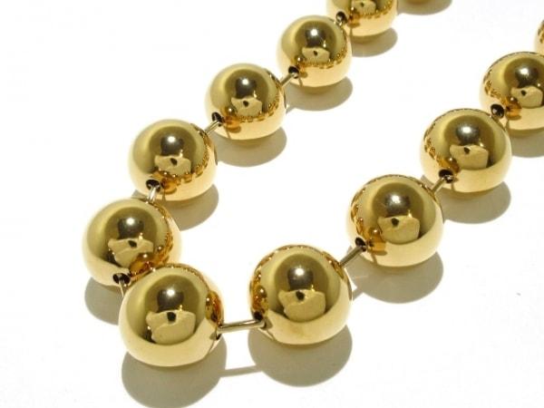 BALENCIAGA(バレンシアガ) ネックレス美品  金属素材 ゴールド ボールチェーン