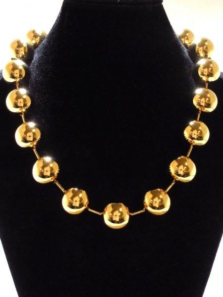 バレンシアガ ネックレス美品  金属素材 ゴールド ボールチェーン 2
