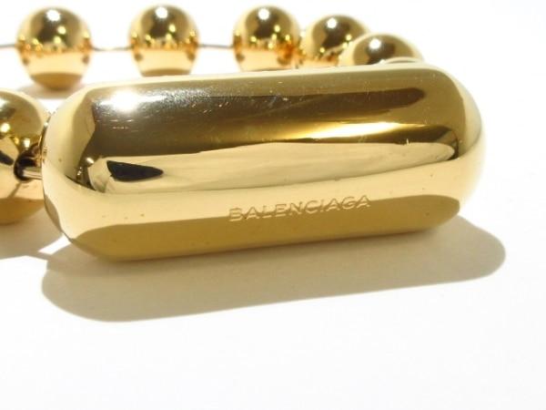 バレンシアガ ネックレス美品  金属素材 ゴールド ボールチェーン 5