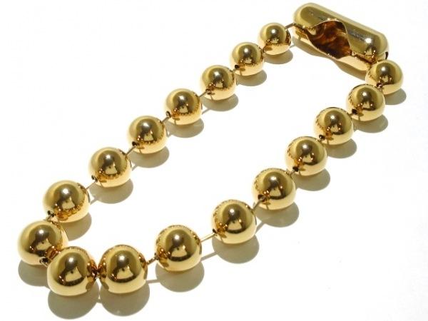 バレンシアガ ネックレス美品  金属素材 ゴールド ボールチェーン 7