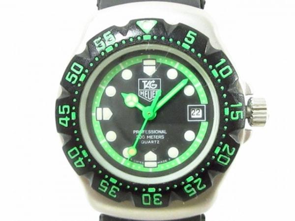 タグホイヤー 腕時計 フォーミュラ1 375.508 レディース 黒×ライトグリーン