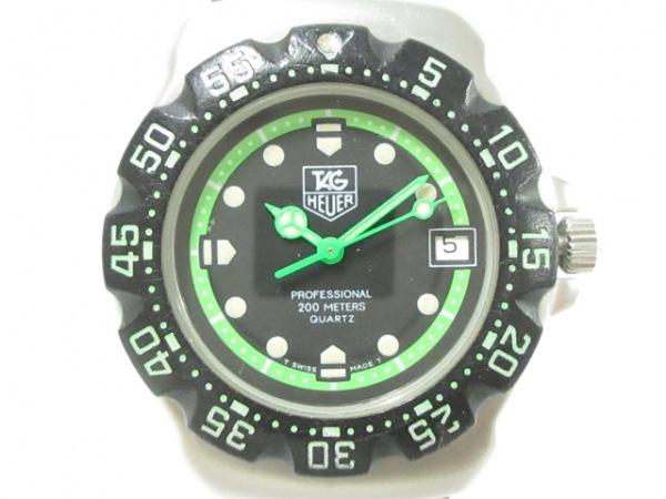 TAG Heuer(タグホイヤー) 腕時計 フォーミュラ1 WA1215 ボーイズ 黒×ライトグリーン