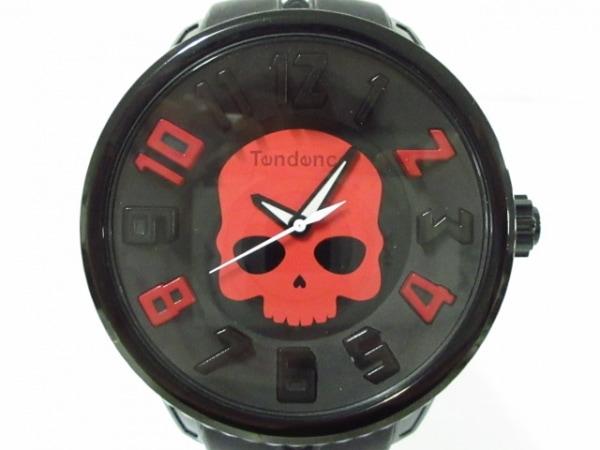 TENDENCE(テンデンス) 腕時計美品  ガリバースカル 5023010 メンズ 黒×レッド