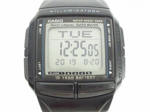 CASIO(カシオ) 腕時計 データバンク DB-36 ボーイズ シルバー×黒