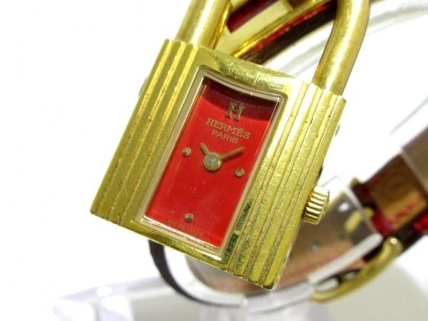 HERMES(エルメス) 腕時計 ケリーウォッチ - レディース レッド