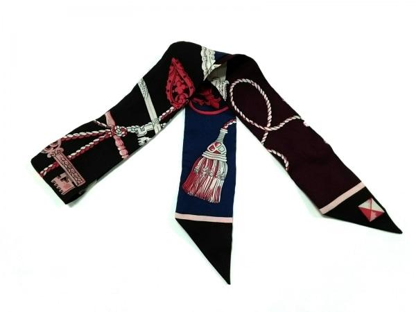 HERMES(エルメス) スカーフ美品  ツィリー H061428SC-03 ボルドー×ピンク×マルチ