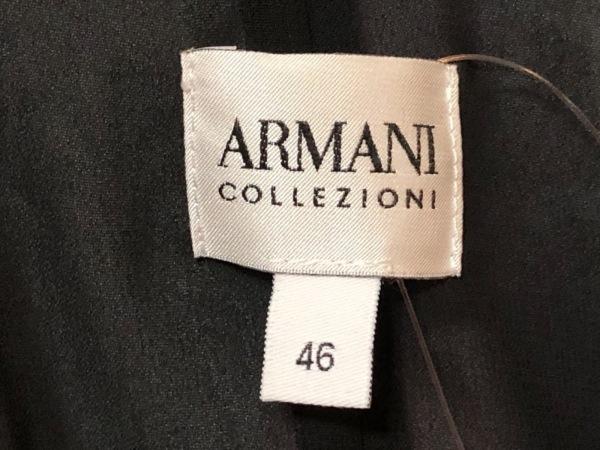 アルマーニコレッツォーニ ワンピース サイズ46 L レディース 黒×レッド×マルチ