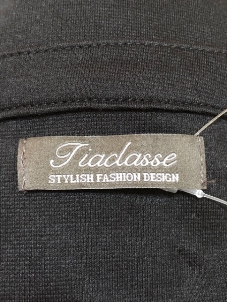 Tiaclasse(ティアクラッセ) カーディガン サイズM レディース 黒 フリル/ジップアップ