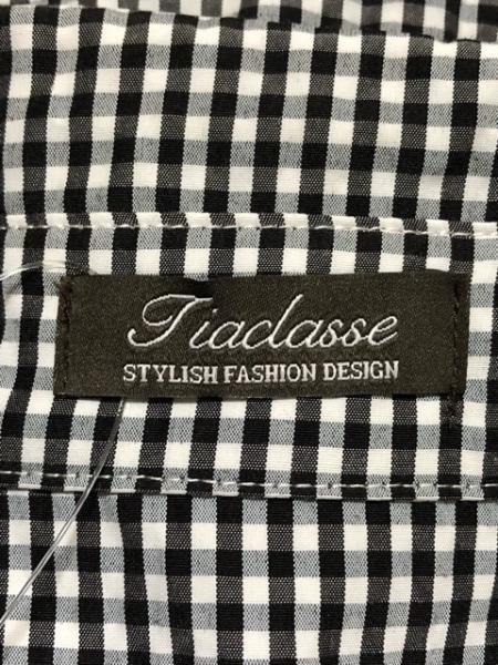 Tiaclasse(ティアクラッセ) ワンピース サイズ11 M レディース 黒×白 チェック柄