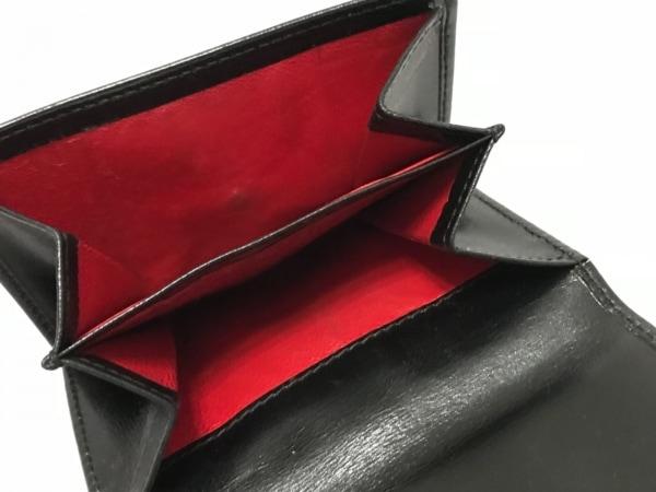 GUCCI(グッチ) Wホック財布 - - 黒×ゴールド レザー