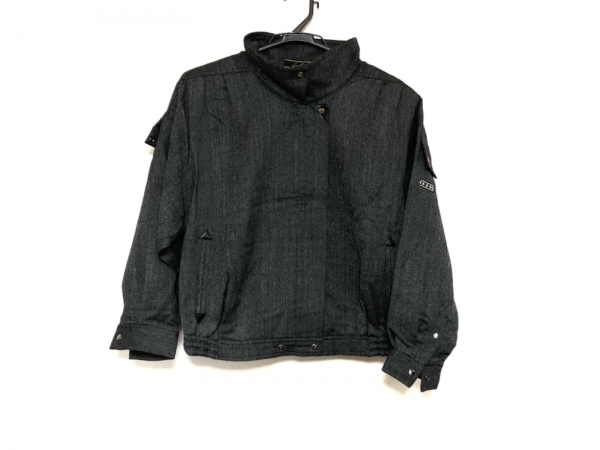 Leilian(レリアン) ブルゾン サイズ9 M レディース美品  ダークグレー 肩パッド/冬物