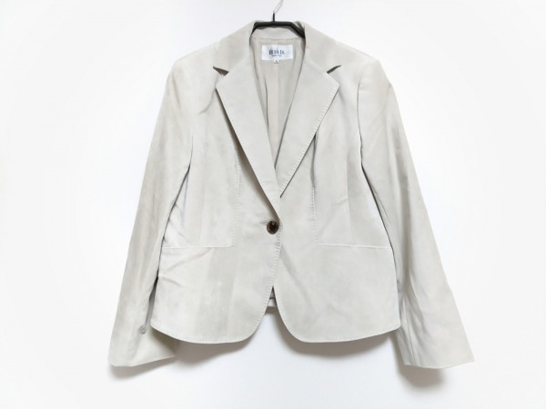自由区/jiyuku(ジユウク) ジャケット サイズ46 XL レディース ライトグレー