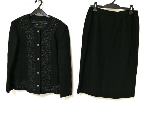 HARDY AMIES(ハーディエイミス) スカートスーツ レディース 黒×ゴールド