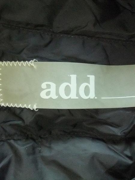 add(アッド・エーディーディー) ダウンジャケット サイズ38 M レディース 黒 冬物