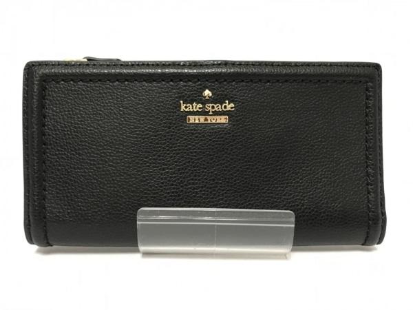 Kate spade(ケイトスペード) 長財布 黒×ゴールド レザー