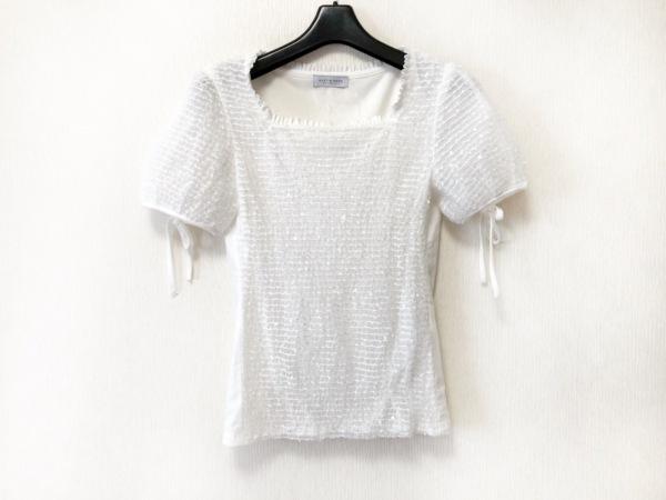 オースチンリード 半袖カットソー サイズ38 L レディース美品  白 スパンコール
