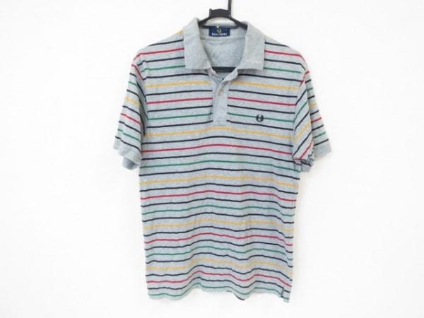 フレッドペリー 半袖ポロシャツ サイズS レディース美品  グレー×黒×マルチ