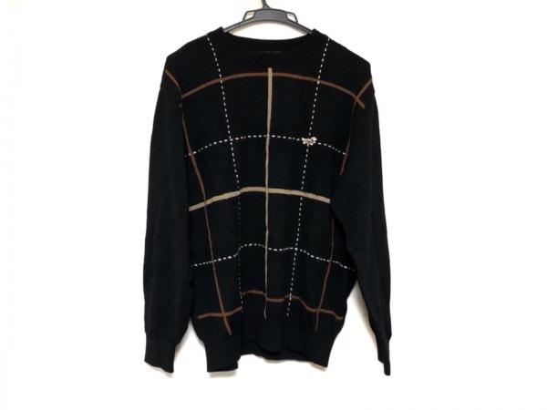 DAKS(ダックス) 長袖セーター サイズM メンズ美品  黒×ベージュ×マルチ