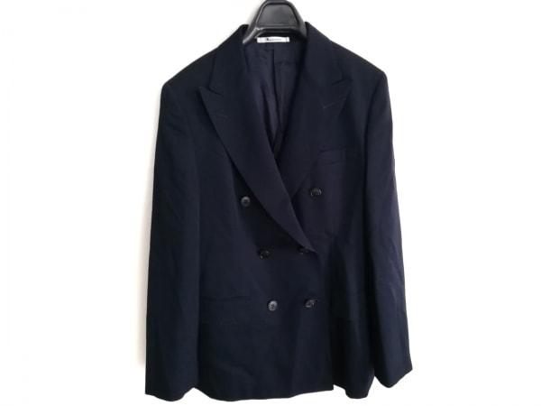 アクアスキュータム スカートスーツ サイズ11 M レディース美品  ダークネイビー