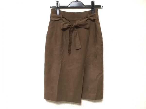 JUSGLITTY(ジャスグリッティー) スカート サイズ1 S レディース ダークブラウン