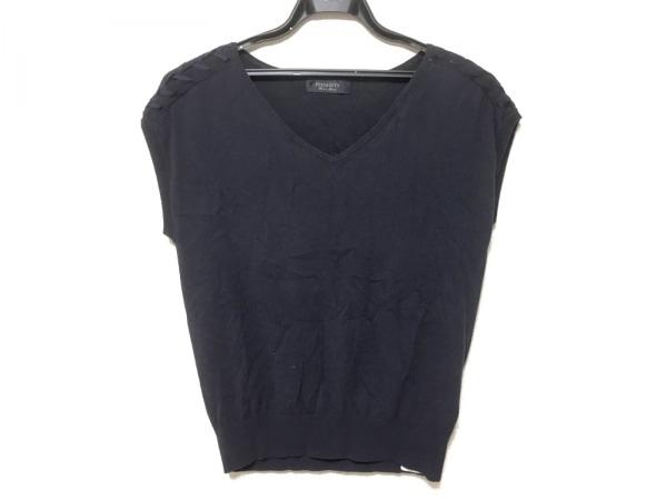 JUSGLITTY(ジャスグリッティー) 半袖セーター サイズ2 M レディース ネイビー