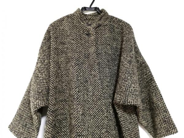 Gres(グレ) コート サイズ38 M レディース美品  ベージュ×黒 冬物