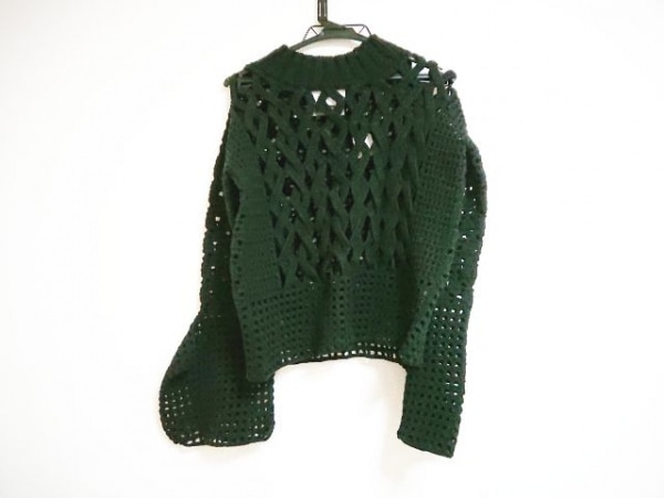 AKIRA NAKA(アキラナカ) 長袖セーター サイズ38 M レディース 黒 シースルー
