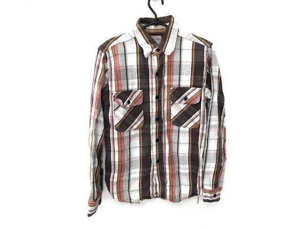 ジョーマッコイ 長袖シャツ サイズ14 メンズ美品  白×ダークブラウン×マルチ