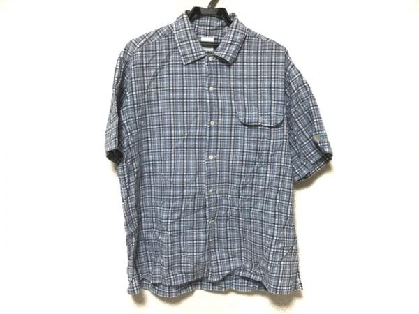 KarlHelmut(カールヘルム) 半袖シャツ サイズM メンズ 白×グレー×マルチ チェック柄