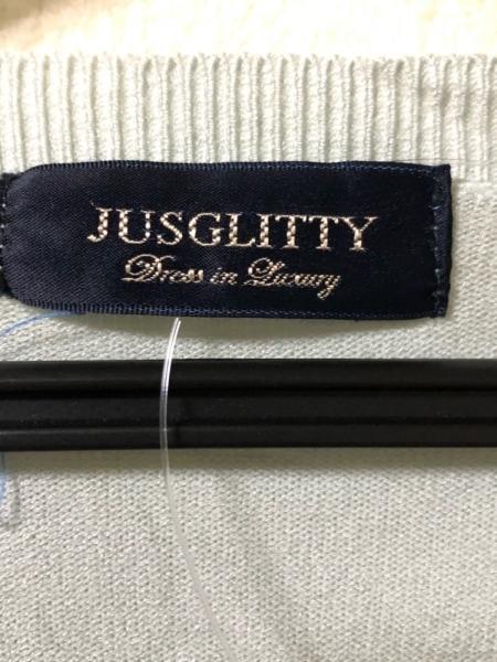 JUSGLITTY(ジャスグリッティー) カーディガン サイズ2 M レディース ライトグリーン