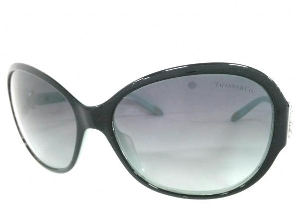 TIFFANY&Co.(ティファニー) サングラス TF4068-B-A 黒×ライトブルー×シルバー