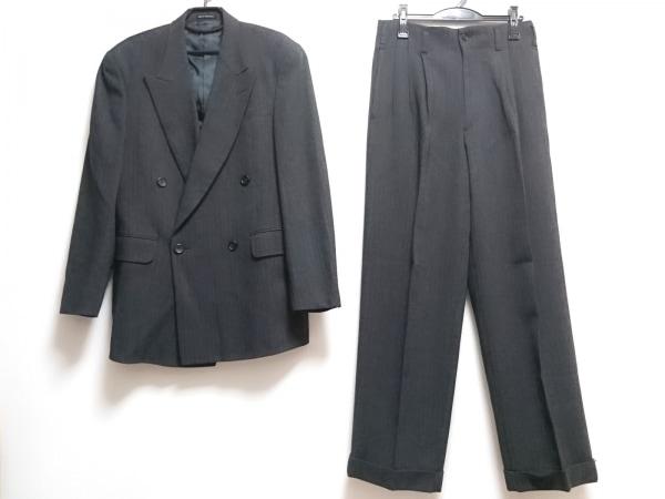 メンズティノラス ダブルスーツ サイズL メンズ新品同様  黒×ベージュ