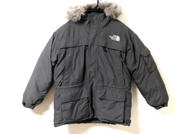 ノースフェイス ダウンジャケット サイズL メンズ美品  グレー 冬物/ファー取外し可