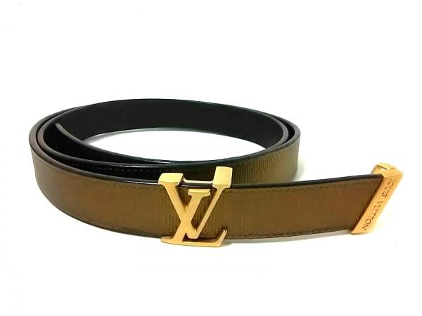 LOUIS VUITTON(ルイヴィトン) ベルト サンチュール M9775 ゴールド レザー×金属素材