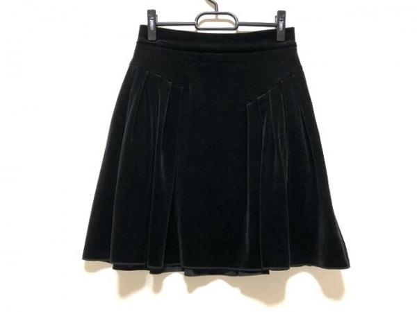 フォクシーニューヨーク スカート サイズ38 M レディース 黒 ベロア/VELOUR NOIR