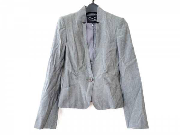 クードシャンス ジャケット サイズ36 S レディース 黒×グレー 肩パッド