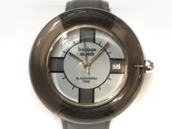 BONBONWATCH(ボンボンウォッチ) 腕時計 - レディース 裏スケ 白×グレー